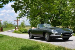 STUNNING 1964 Series 1 Jaguar XKE OTS Roadster Green with Biscuit interior Photo