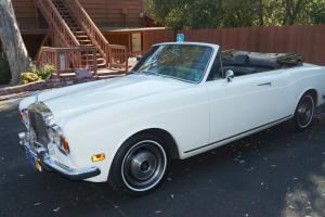 1972 Rolls Royce convertable.   Chrome bumper Rolls