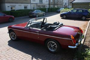 MGB Roadster burgandy
