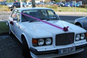 1986 BENTLEY BENTLEY 8 WHITE WITH BEIGE LEATHER INTERIOR
