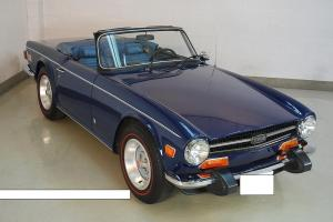 Triumph TR6- 1974-Survivor-Sapphire Blue-Shadow Blue 66K miles,4spd-OD tranny Photo