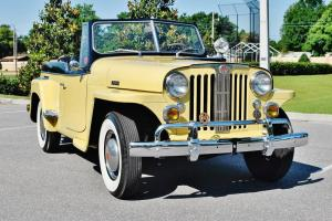 this is one sweet jeepster with rare 6cly run's new