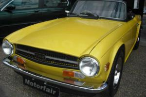 1975 Triumph TR6 Mimosa Yellow, 3 owners, Service history,UK Injected car, Photo
