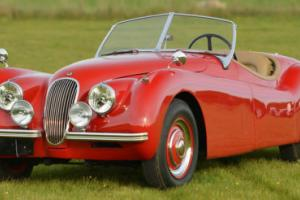 1954 Jaguar XK120 OTS Convertible LHD with spats. Photo