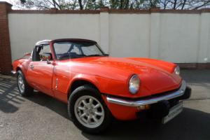 81 W TRIUMPH SPITFIRE 1500, VERMILLION RED, HARD & SOFT TOP'S, 83,000 MILE'S. Photo