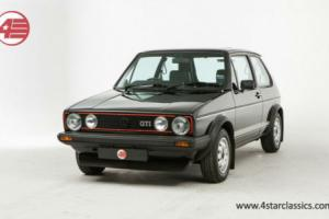 FOR SALE: Volkswagen Mk1 Golf GTi. An original GTi with just 1 owner from new.