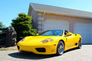 FERRARI 360 SPIDER, HIGHLY OPTIONED, 6-SPD MANUAL