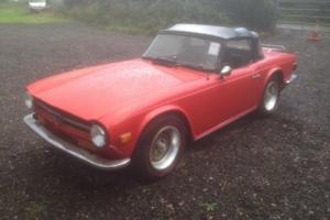 1973 Triumph TR6 Red with Overdrive 59,000 miles only *LHD*