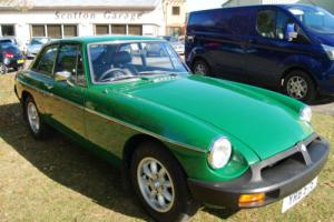 MG B GT green rubber bumper FULLY RESTORED AND RE PAINTED OVER 10k SPENT! Photo