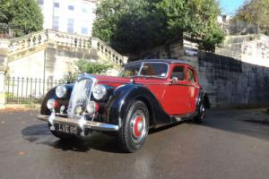 1953 Riley 2.5 LITRE RMF Manual Wine Red Over Black Photo