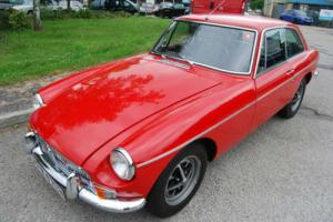 MG B GT red CHROME BUMPER fully restored, stunning, low mileage, hsitory, MOT
