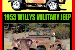 Willys : JEEP M38A1 M38 Military CA Black Plates