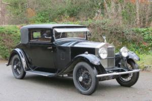 1929 Rolls-Royce 20hp Barker 2 Door Saloon Coupe GFN10 Photo