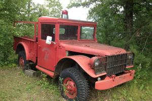 Dodge : Power Wagon Former Military/Fire Department truck