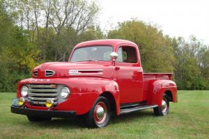 1950 FORD PICKUP F1 RESTORED RED