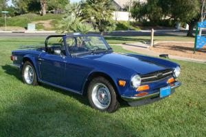 Triumph : TR-6 blue Photo