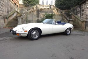 1973 Jaguar E-Type 5.3 V12 Roadster Auto White Photo