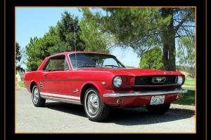 Ford : Mustang Coupe -  Red/Red