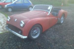1959 Triumph TR3 Red With wire wheels and disc brakes *LHD USA Import* Photo