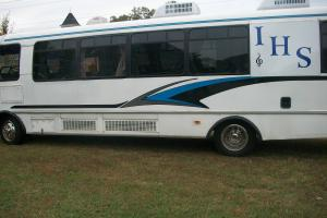 christan groupe bus   singing or  enterment  traveling