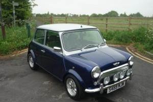 1998 Rover Mini Balmoral in Tahiti Blue and Silver