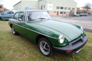 MG B GT Rubber Bumper OVERDRIVE Green 1.8 superb condition