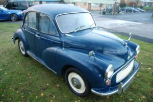 Morris MINOR 1000 blue classic, great condition, drives well, blue leather