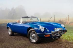 Jaguar E-TYPE, Series III, 3, Roadster 5.3L 1975, Convertible, Blue Photo