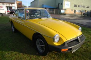MG B GT 1.8 over drive rubber bumper YELLOW long MOT 05/2015