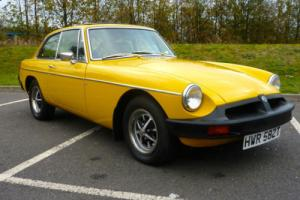 MGB GT 1979 SNAP DRAGON YELLOW COVERED 48,000 BELIEVED GENUINE FROM NEW Photo