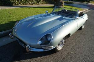 Jaguar : E-Type SERIES I CONVERTIBLE ROADSTER WITH FACTORY HARDTOP