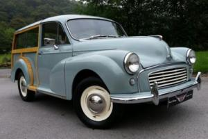 1962 Morris Minor Traveller, Duo tone seats, new wood, unleaded recon 1098cc