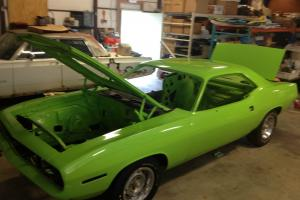 1970 Hemi Cuda - Rare FJ5 Limelight Green color with 4 Spd, Seller owned 27 year