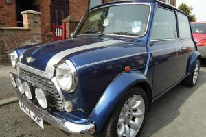 Rover Mini Cooper Sport 12 months MOT Blue with Silver Roof Tax till September  Photo