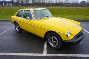 MGB GT 1979 INCA YELLOW WITH BLACK HIDE SEATS OUTSTANDING CONDITION THROUGHOUT