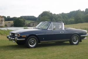 TRIUMPH STAG MK1 BLUE CONVERTIBLE  Photo