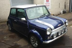 2001 Classic Rover Mini Cooper 500 Works S in Tahiti Blue