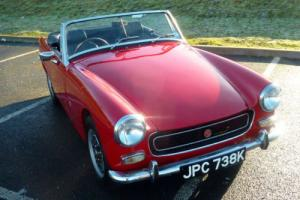 MG MIDGET 1971 - FINISHED IN RED WITH BLACK INTERIOR - IDEAL STARTER CLASSIC