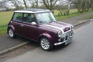 1999 Classic Rover Mini Cooper with Full Sunroof in Morello Red