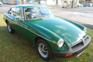 MG B GT green rubber bumper overdrive, great to drive, k&n filters