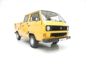 A Totally Original VW T25 Transporter Double-Cab Pick-Up with just 25,347 Miles.