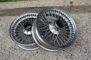 Jaguar E Type X2 Wire Wheel Rims FOR 1960s Series 1 2 in Vaucluse, NSW Photo