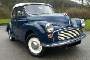 1959 Morris Minor Convertible, unleaded 1098, new interior, excellent all round,