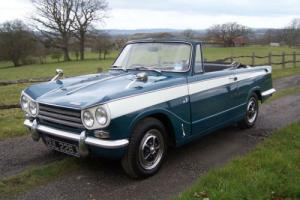 Lovely solid and original 1970 Triumph Vitesse Mk2 Convertible,Drives superbly.