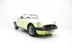 A Fabulous and Enthusiast Owned MGB Roadster with Just 57,061 Miles