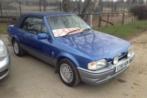1990 FORD ESCORT XR3i CAB. ** NEW MOT, NEW MOHAIR POWER HOOD, SUPERB EXAMPLE **