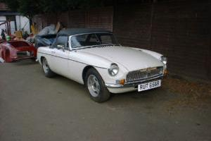 MGB 1977 WHITE CHROME BUMPER CONVERSION STUNNING