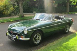 1972 MGB ROADSTER 1.8 SOFT TOP. TAX EXEMPT. ORIGINAL CHROME BUMPER. OVERDRIVE