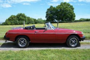 Stunning 1980(V) MGB Roadster in Damask Red with leather interior,only 65000 mls