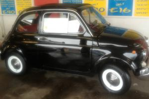 1968 FIAT 500 BLACK WITH RED INTERIOR. BEAUTIFUL CAR AND DELIVERY SERVICE OFFER